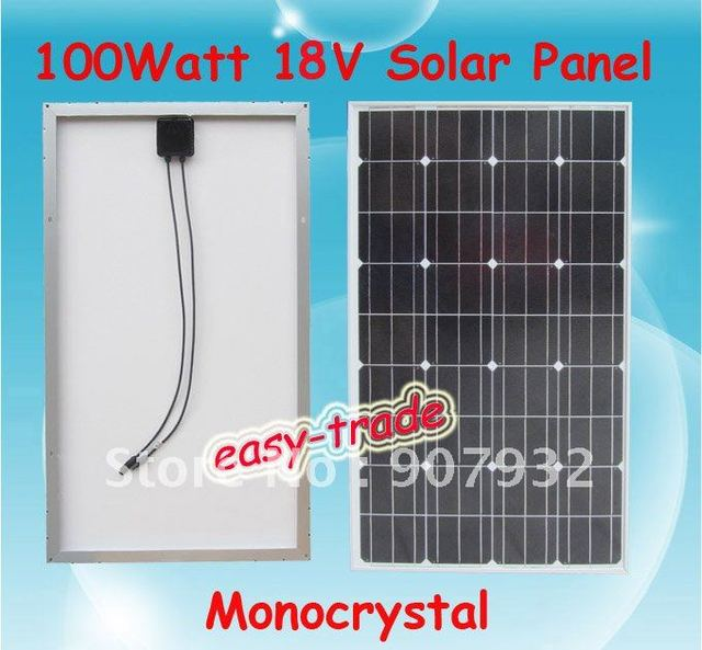 100w 18V Solar Panel Module Charger 12V Battery-low price, free shipping, high efficiency, 100 watt