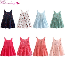 2017 Kids Sundress Princess Dresses Shirt Baby Girls Summer Cotton Vest Dress Hot Styles