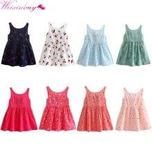 Kids Baby Girl Dress Summer Flower Princess Dresses Shirt Baby Girls Summer Cotton Backless Vest Dress