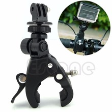 все цены на New Gopro Accessories Bike Bicycle Motorcycle Handlebar Seatpost Clamp Roll Bar Mount Tripod Holder For GoPro Hero 1 2 3 3+Black онлайн