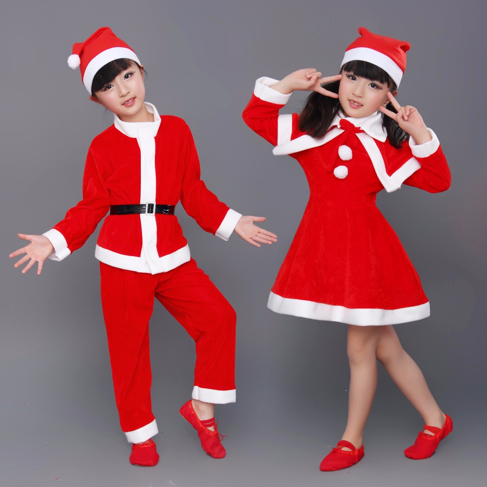 Santa Claus kid costumes Christmas Profit Non-woven Child Claus Suit Costume Halloween Kits High-grade velvet costume