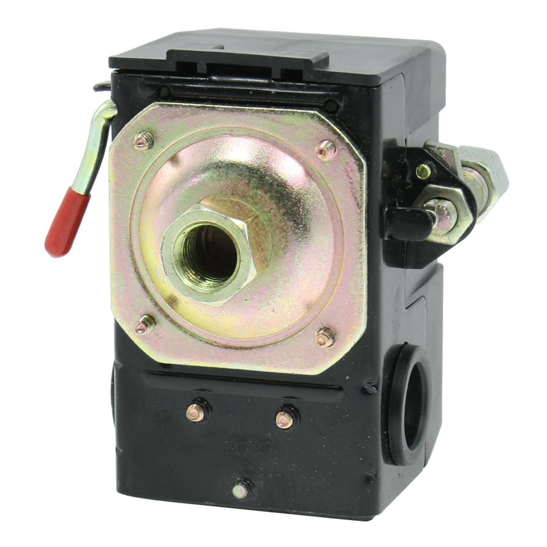 DHDL-80-115PSI 1/4 NPT 1-Port Air Compressor Pressure Switch Control Valve vertical type replacement part 1 port spdt air compressor pump pressure on off knob switch control valve 80 115 psi ac220 240v