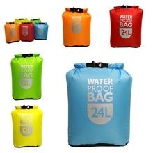 цена на Waterproof Dry Bag Pack Sack Swimming Rafting Kayaking River Floating Sailing Canoing Boating Trekking bag 6/12/24L ponton