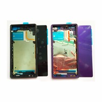 New Back Rear Glass Cover For Sony Xperia Z2 L50W D6503 D6543 Middle Frame LCD Panel