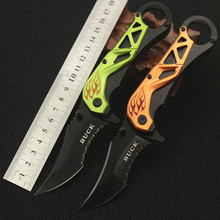 A partially Serrated Blade Folding Pocket Knife Stainless Steel Tactical Hunting Knife Aluminum handle