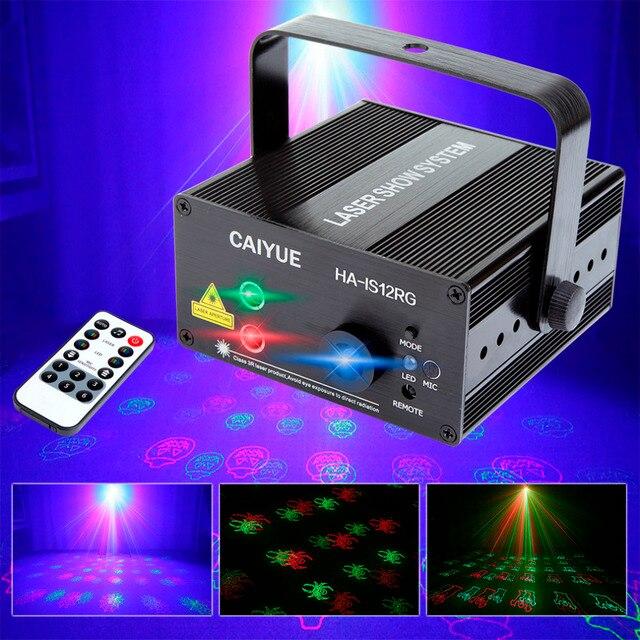 halloween stage laser projector lighting effect ir remote 12 rg patterns show spider web spider ghost