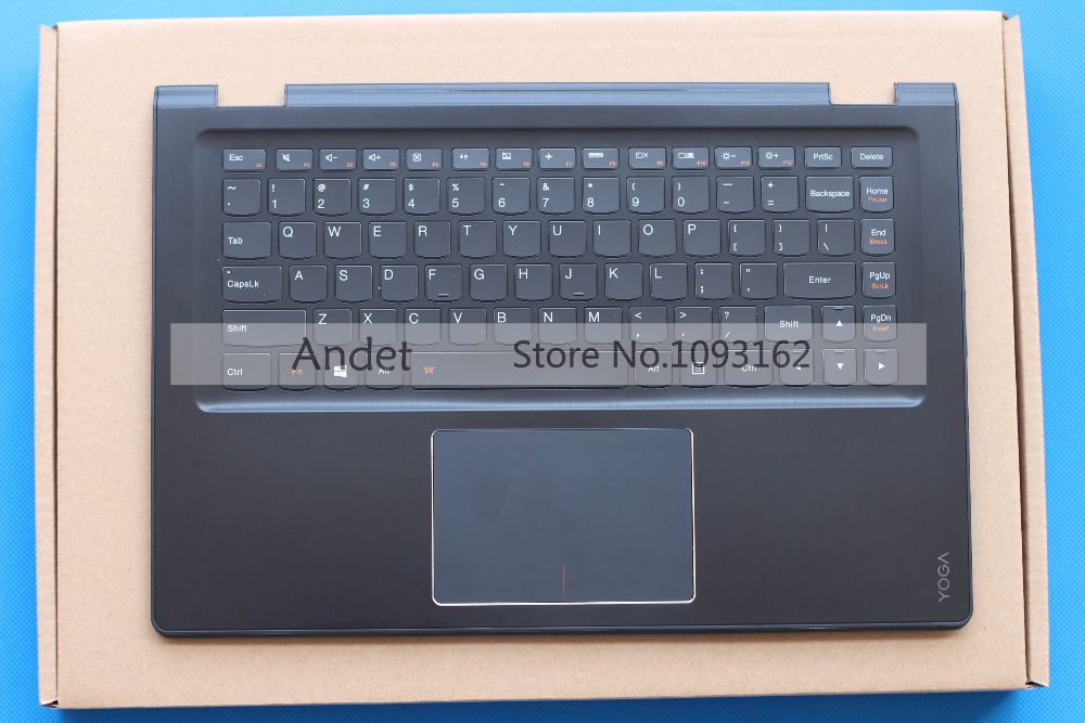 95 New Lenovo Yoga 3 14 US English Keyboard Palmrest Bezel Upper Case Cover Black Touchpad gzeele new for lenovo thinkpad s1 yoga keyboard bezel palmrest cover with touchpad and connecting cable 00hm067 00hm068 black c