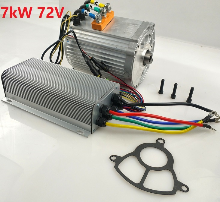 Fast Shipping 7000W 60V 7000W 72V 1pc AC brushless motor + 1pc AC controller E-bike electric bicycle speed control