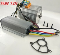 Fast Shipping 7000W 60V 7000W 72V 1pc AC brushless motor + 1pc AC controller E bike electric bicycle speed control