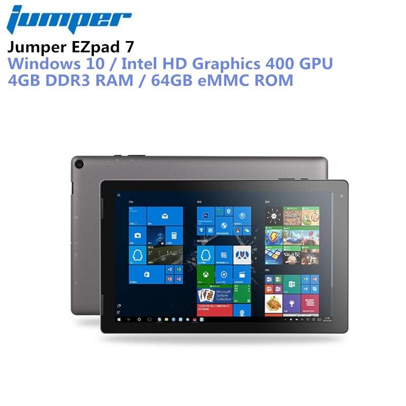 Jumper EZpad 7 Tablet 2 in 1 Tablet PC 10.1'' Windows 10 Intel Cherry Trail Z8350 Quad Core 1.44GHz 4GB RAM 64GB eMMC ROM mini pc 2 tv box for intel cherry trail z8350 4gb rom 64gb capacity quad core hd 64bit windows 10 wifi bt4 0 set top box