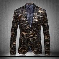 Unique Striped Mens Blazer Veste Blazer Homme Veste Homme Mens Leopard Print Blazer Men Black And