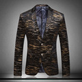 Unique Striped Mens Blazer Veste Blazer Homme Veste Homme Mens Leopard Print Blazer Men Black and Gold Blazer Slim Fit