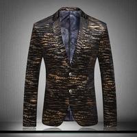 Unique Striped Mens Blazer Veste Blazer Homme Veste Homme Mens Leopard Print Blazer Men Black and Gold Blazer Slim Fit