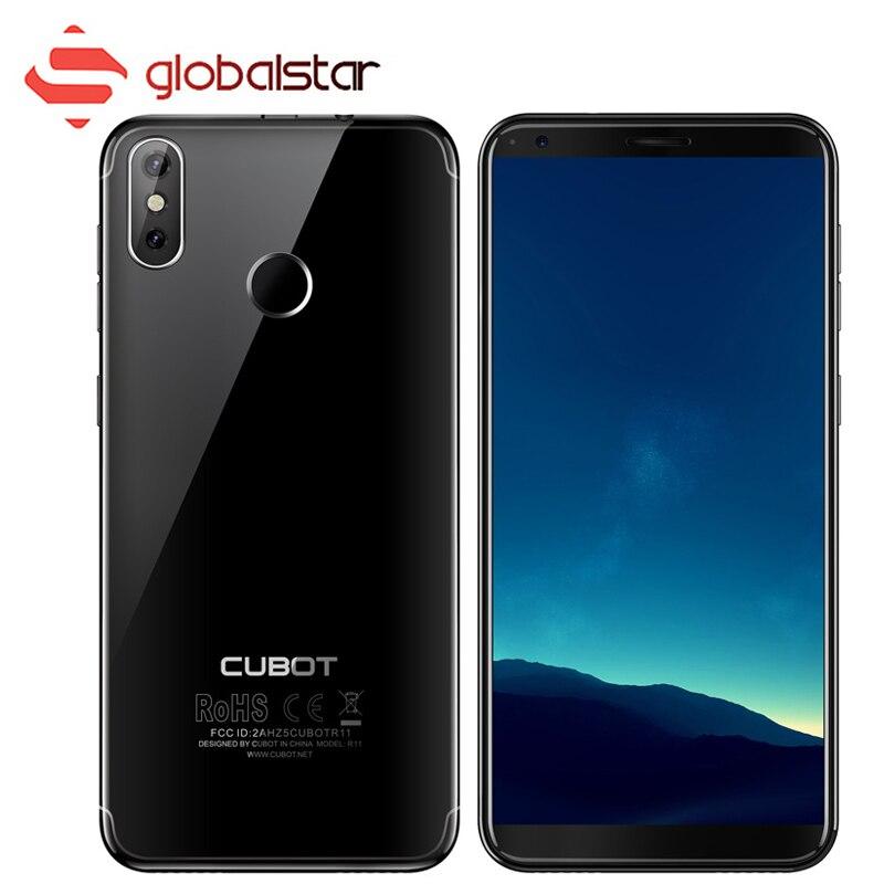 CUBOT R11 5.5 pouce HD Cellulaire téléphone 2g RAM 16g ROM MT6580 Quad Core Double Retour Camaras Smartphone 2800 mah Android 8.1 Mobile Téléphone