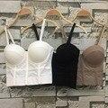CADEIAS P143 Moda de Boa Qualidade Malha Push Up Bra Bralet Bustier do Espartilho das Mulheres Night Club Festa Cropped Top Colete Mais tamanho