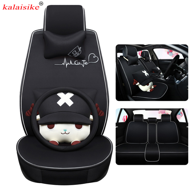kalaisike flax Universal Car Seat Cover for Mitsubishi all models outlander lancer ASX pajero sport pajero dazzle car styling