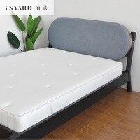[InYard proper oxygen] Белая бархатная кровать/Мягкая покрытая деревянная кровать/импортная ткань арт двуспальная кровать дизайнер Северной Европы