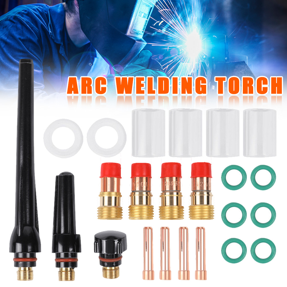 13Pcs TIG Welding Gun Accessories Nozzle Stubby Gas Lens Kit For WP-17//18//26