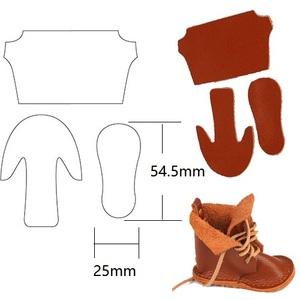 Кукольная обувь Dolly Made, режущий Штамповочный Инструмент для перфорации кожи, инструмент для поделок, кожевенное ремесло для кошелька, обуви,...