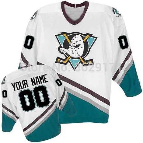 Mighty Ducks Jersey Persönlichkeit Anpassen Irgendein Name Jede Numeber Genäht Logo Herren-eishockey Jersey