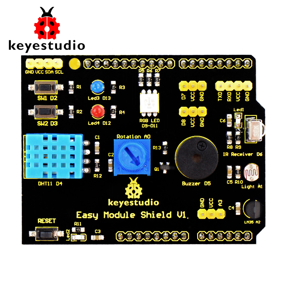 Free shipping! keyestudio Multi-purpose Shield V1 for arduino starter dial vision adjustable lens eyeglasses