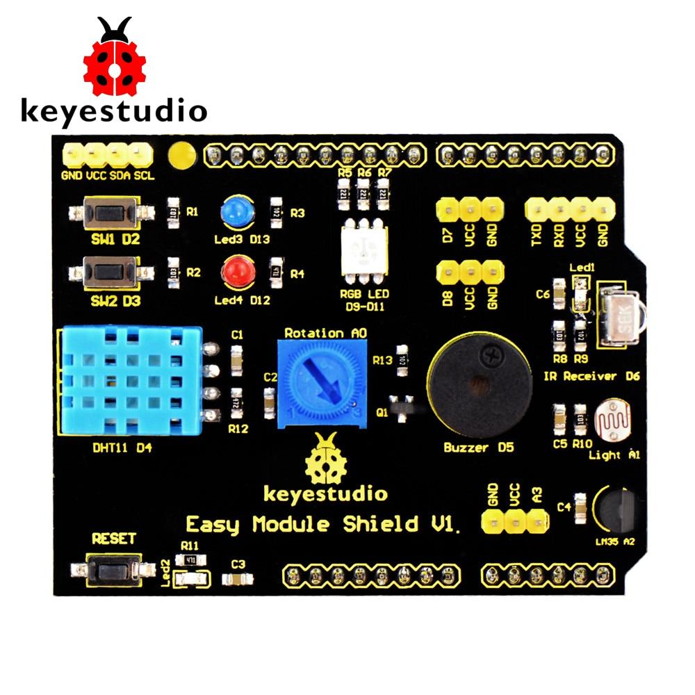 Free shipping!Keyestudio Multi-purpose Shield V1 for Arduino StarterFree shipping!Keyestudio Multi-purpose Shield V1 for Arduino Starter
