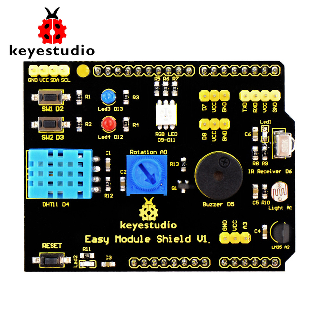 US $9 99 |Free shipping!Keyestudio Multi purpose Shield V1 for Arduino  Starter-in Integrated Circuits from Electronic Components & Supplies on