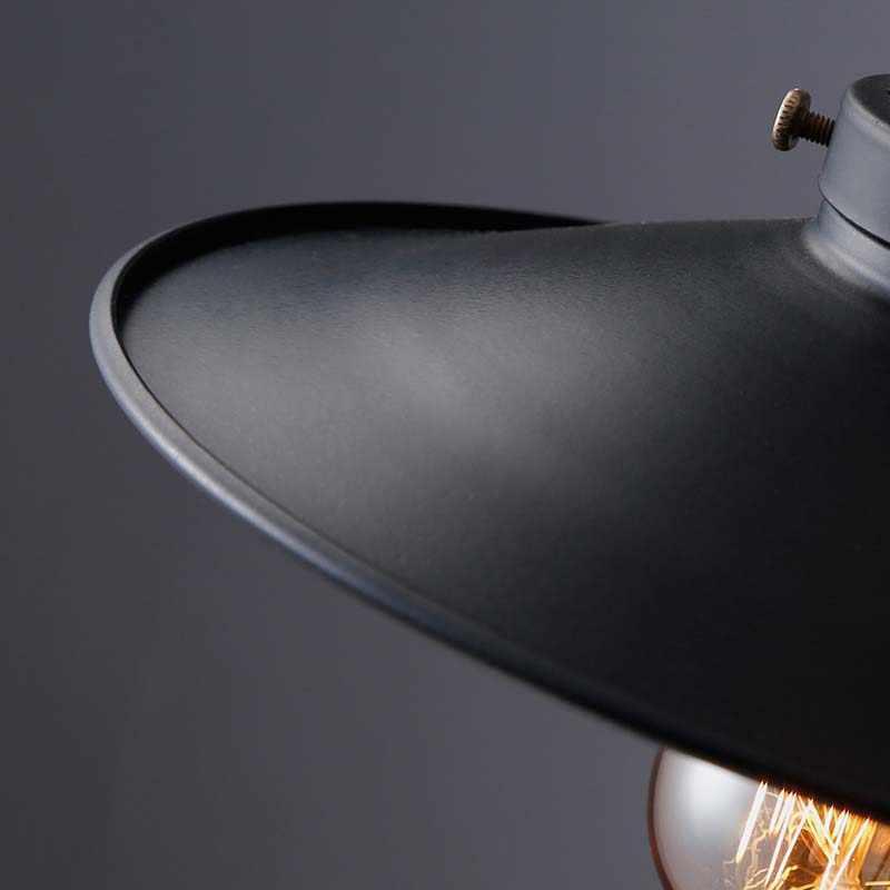 1 PCS לופט RH תעשייתי מחסן תליון אורות אמריקאי מנורות תאורת בציר עבור מסעדה/חדר שינה עיצוב הבית שחור