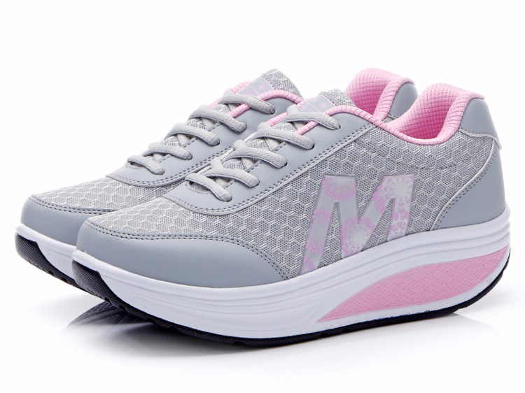 Slimming Shake shoes Women Fashion Breathable Mesh Casual Shoes Spring Summer Lace Up Women Swing Shoes Platform Trainers YD52 (17)