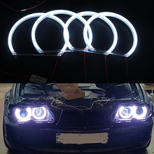 цена на Free shipping 3014 LED 126 SMD Angel Eyes For BMW E46 Non PROJECTOR Halo Rings kit-white (with Non-Projector Low Beam Headlight)