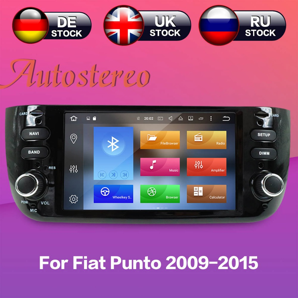 Car DVD player GPS navigation radio Stereo For Fiat Punto 2009-2015 Linea 2012+ UNIT auto video multimedia newest Android7.1 8.0 43 2012