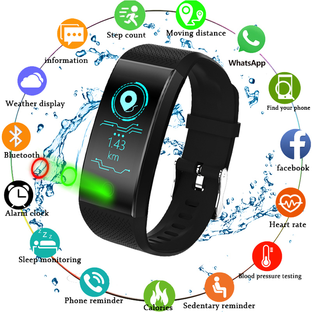 TLXSA Brand Fitness Bracelet Smart Pedometer Wristband Heart Rate Monitor Waterproof IP68 Sport Intelligent Bracelet Android&IOS