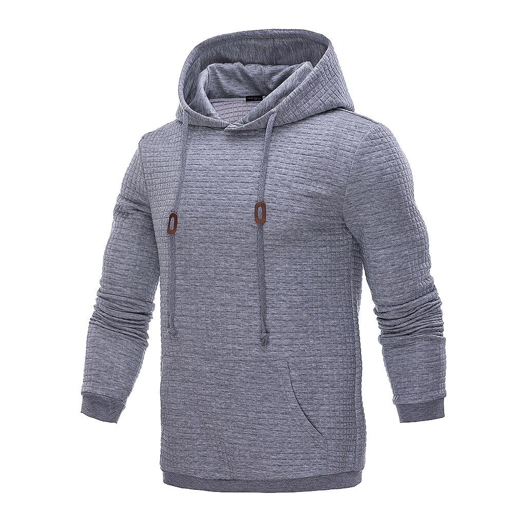 Hoodies Men 2018 Brand Male Long Sleeve Solid Color Hooded Sweatshirt Mens Hoodie Tracksuit Sweat Coat Casual Streetwear