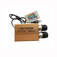 1X High quality 32W RGB LED optical fiber light engine with 24 key IR remote controller express free shipping
