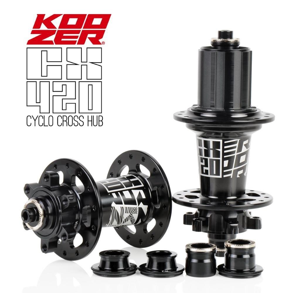 Koozer 2019 date CX420 moyeux de vélo de route moyeu de frein à disque de vélo 28 trous 6 pions 72 clics QR 8 9 10 11 S à travers l'essieu 12*100 12*142