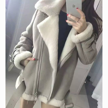 2016 Genuine Real Shearling Coat Natural Sheepskin White Black Suede Men and women Jacket Short Clothes Thick Overcoat