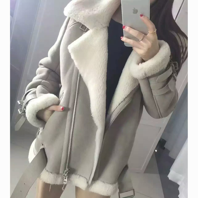 Aliexpress.com : Buy 2017 Best Quality Genuine Real Shearling Coat ...