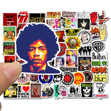 50pcs Stickers Hip Hop Rock & Roll Band Cartoon Character Graffiti Sticker Toys For Skateboard Laptop Bicycle Decals F5