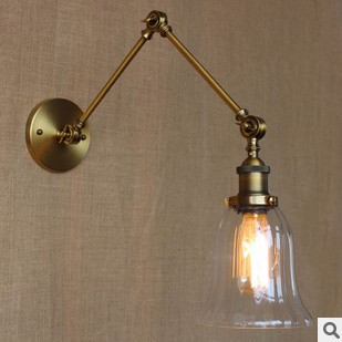 ФОТО RH Style Loft Industrial Vintage Wall Light With Glass Lampshade Retro Lamp Edison Wall Sconce Lampara Pared
