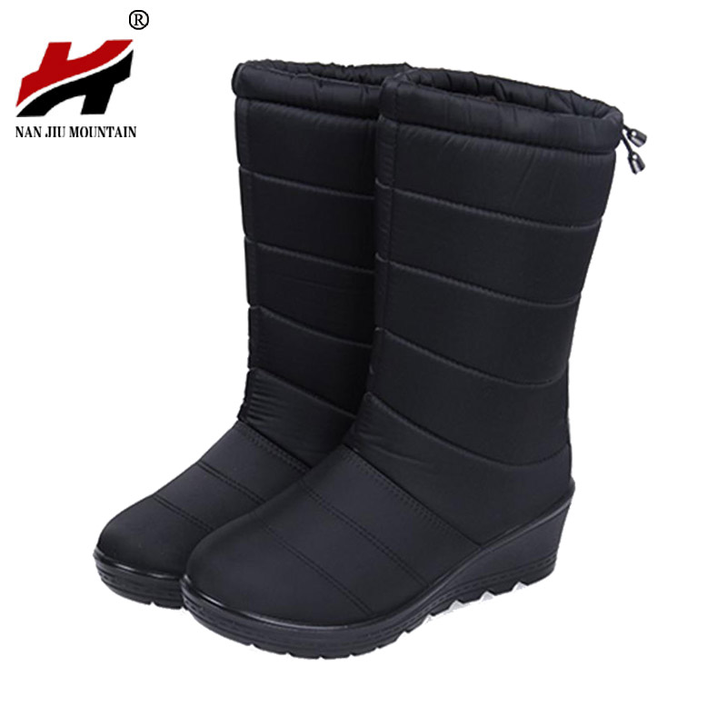 Winter Women Boots Female Waterproof Tassel Ankle Boots Down Snow Boots Ladies Shoes Woman Warm Fur Botas Mujer Elastic Band 2017 women boots female snow ankle boots warm ladies winter warm fur casual shoes woman zippers fur thick sold flats botas mujer