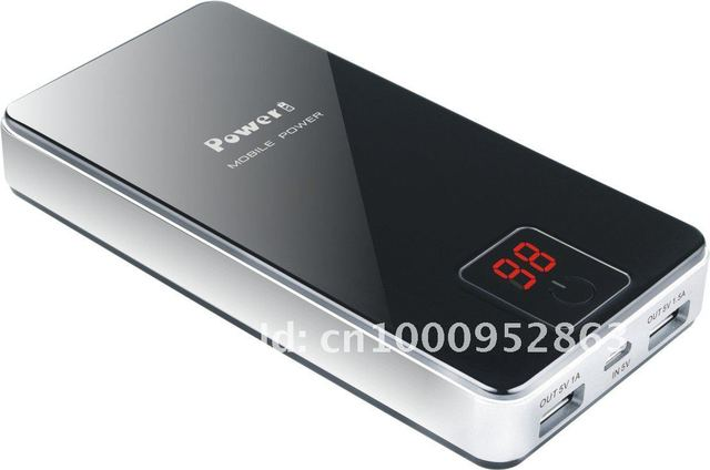 High quality 9000mAh Portable Power bank with LED Display for iPhone iPad mobile phone, Free Shipping