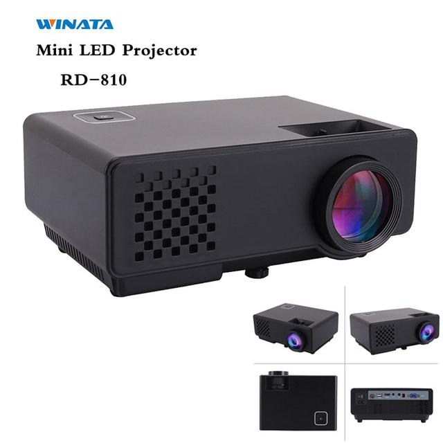 RD-810 Proyector Portátil Full HD 1080 P 1000 Lúmenes Proyector Digital HDMI/VGA/USB/AV/SALIDA DE AUDIO del Proyector Incorporado altavoz