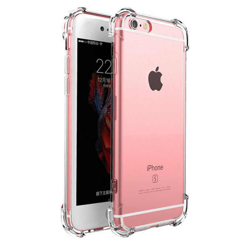 Original Clear Shockproof Silicone Transparent Phone Case Cover Coque For iphone 7 7Plus 6 S 6S 6Plus 8 8PLUS 5S 5 X Xs Max XR