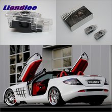 цена на Liandlee Car Door Ghost Shadow Lights For Mercedes Benz L SLR 2003~2009 Courtesy Doors Lamp LED Projector Welcome Light