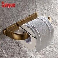 Vintage Antique Brass Bathroom Paper Holder Toilet Tissue Bar Holder paper ring