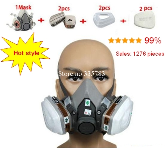 high quality respirator gas mask combination Brand gas mask spraying paint pesticide h2s carbon filter respirator mask