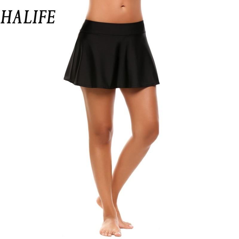 HALIFE Women Micro Mini Skirts Mid Waist Black Sexy Korean Cute Schoolgirl Uniform Tutu Beach Pleated Skirt Saia Faldas 615