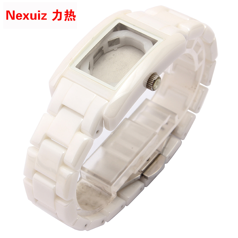 The NEW Watchbands 18mm,High Quality Ceramic Watchband  White Diamond Watch fit AR1409  women watches Bracelet  WATCHBAND new watchbands 18mm high quality ceramic watchband black diamond watch fit ar1412 women watches bracelet watchband