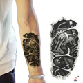 Temporary tattoos 3D black mechanical arm fake transfer tattoo stickers hot sexy cool men spray waterproof designs