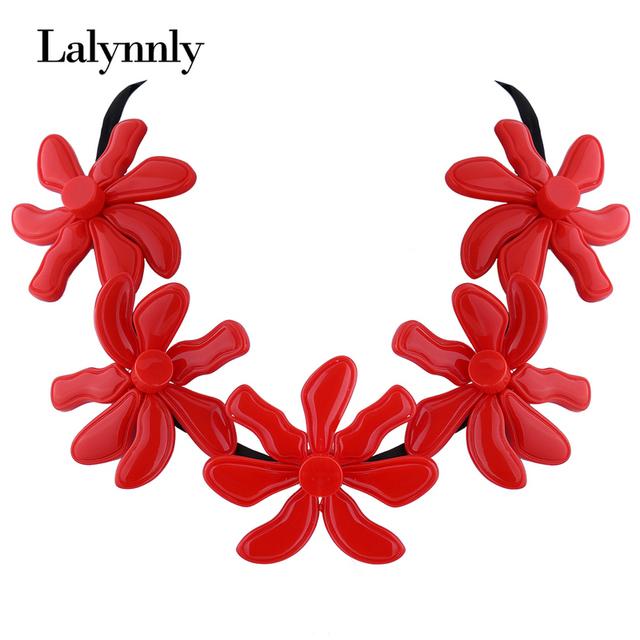 4 colores mujeres de la manera collares charms flor maxi choker collar accesorios de la joyería de la vendimia collar fornido n47451